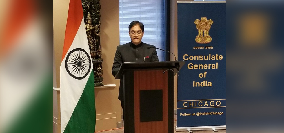 Consulate General of India, Chicago celebrated the 72nd Republic Day of India on Tuesday, 26 January 2021